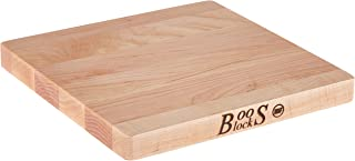 product image for John Boos Block Chop-N-Slice Maple Wood Edge Grain Reversible Cutting Board, 10 Inches x 10 Inches x 1 Inches