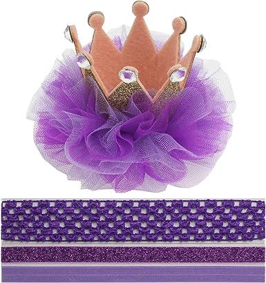 Amazon.com: Crown Clip de pelo para bebé 1 corona diadema ...