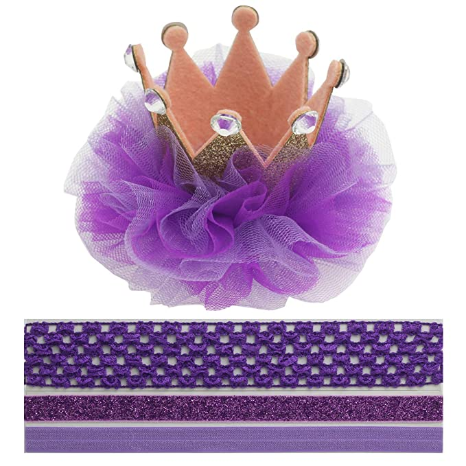 Crown Hair Clip Toddler 1 One Headband For Baby Girl Princess First Birthday Hat Costume