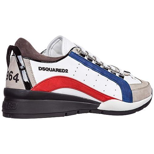 Dsquared2 Sneakers 551 Uomo Bianco Rosso Blu 44 EU: Amazon