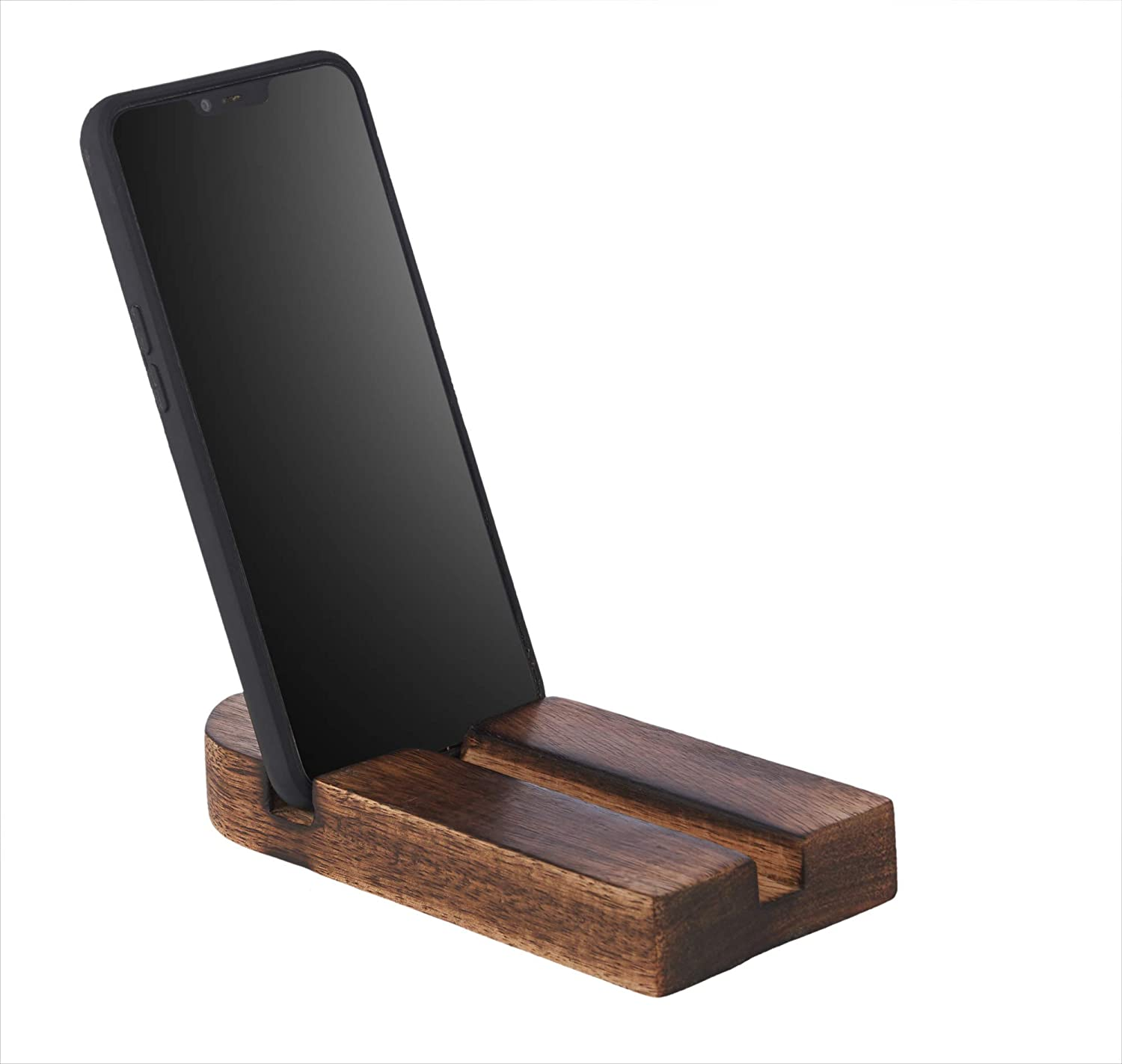 Horizontal /& Vertical Compatible for All Android Smartphone Wooden Cross Shaped Handy Desktop Universal Mobile Holder Ancient Handicraft Wood Cell Phone Mobile Smartphone Stand Holder iPhone
