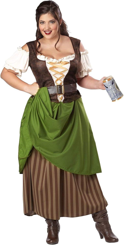 Plus Tavern Maiden Costume for Women