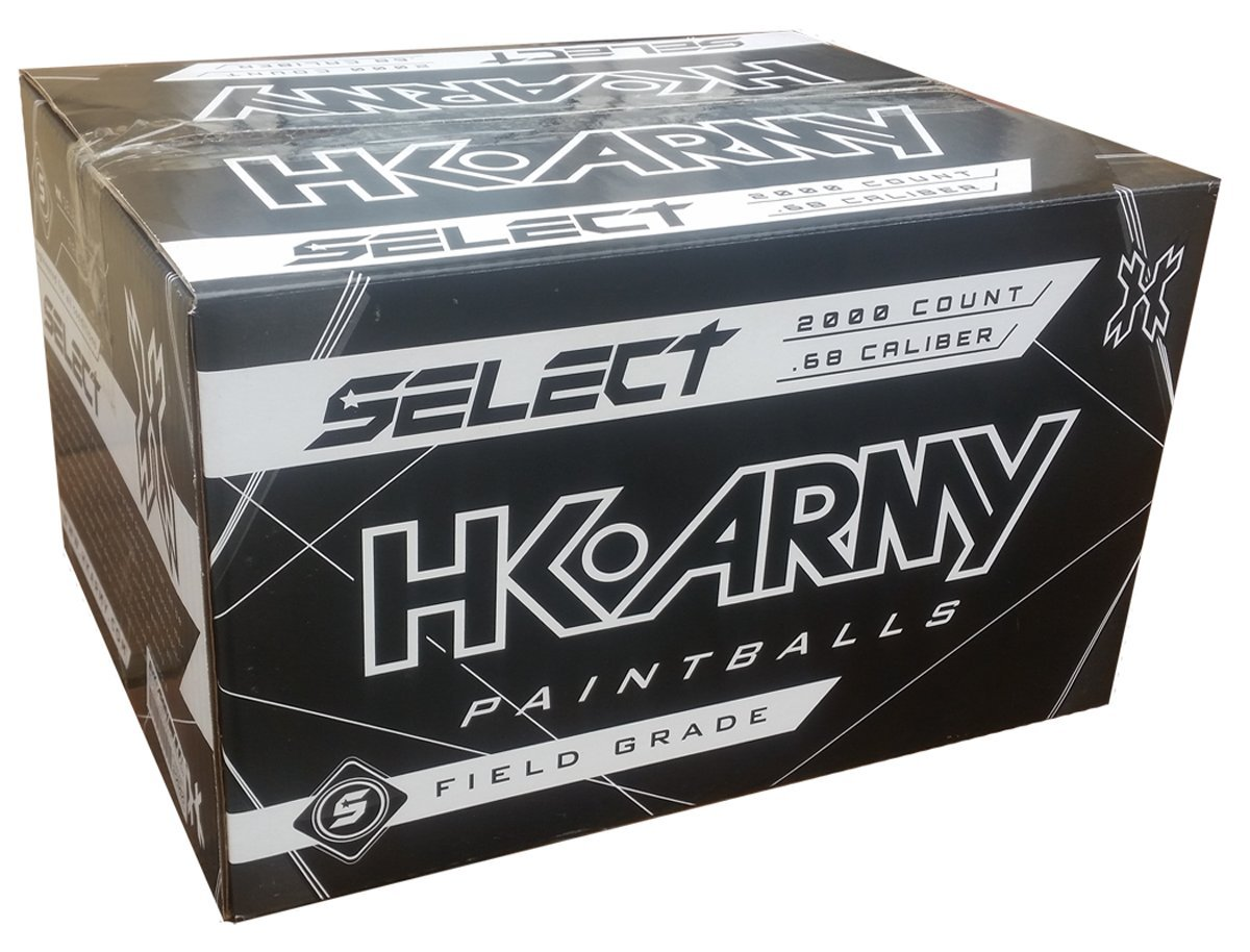 HK Army Paintballs Case of 2000 Rounds - SELECT PAINT - Green/Yellow