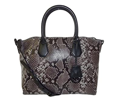 0a12faf8aa3ea1 Amazon.com: Michael Kors Campbell Large Satchel Steel Grey Embossed  Leather: Shoes