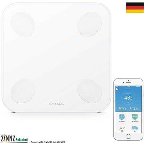 yunmai Mini 2 yunmai Balance Smart Báscula Báscula de análisis corporal de grasa corporal (Smart