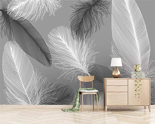 Papier Peints,Murals,Personnaliser 4D Papiers Peints Gris ...