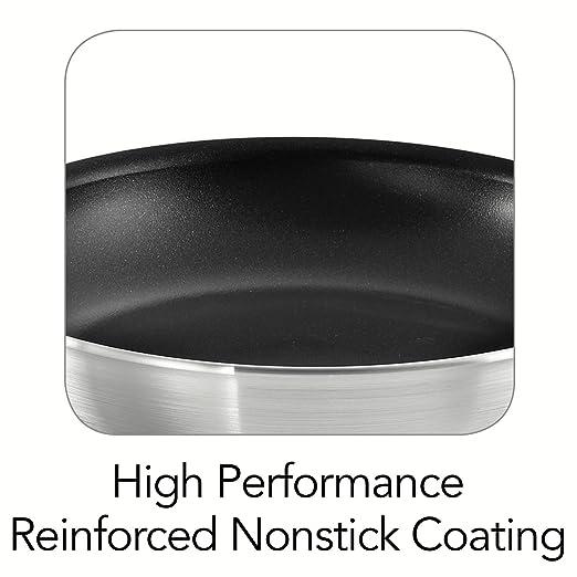 (2pack) Tramontina Professional Nonstick Restaurant Fry Pan, 10-Inch, Natural Aluminum