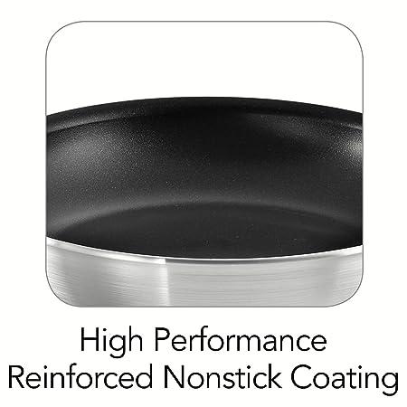 Amazon.com: (2pack) Tramontina Professional Nonstick Restaurant Fry Pan, 10-Inch, Natural Aluminum: Kitchen & Dining
