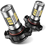 SEALIGHT 5202 LED Fog Lights Bulbs 2504/H16 Type 1(European Type, Not for Japan Vehicle)/PSX24W/9009, DOT Approved, Xenon White 6000K, 27 SMD, 1 Yr Warranty (Pack of 2)