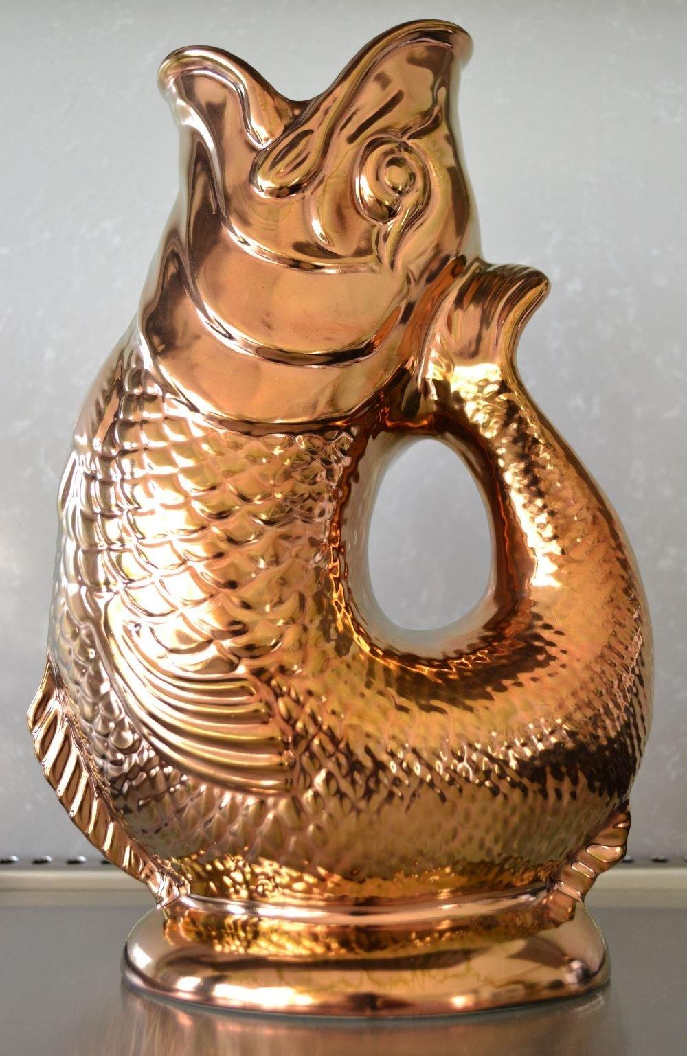 Wade Ceramics Copper Gluggle Jug Pitcher, X-Large