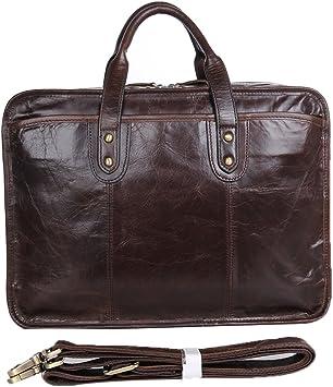 Genda 2Archer Men Genuine Leather Business Laptop Case Briefcase Tote
