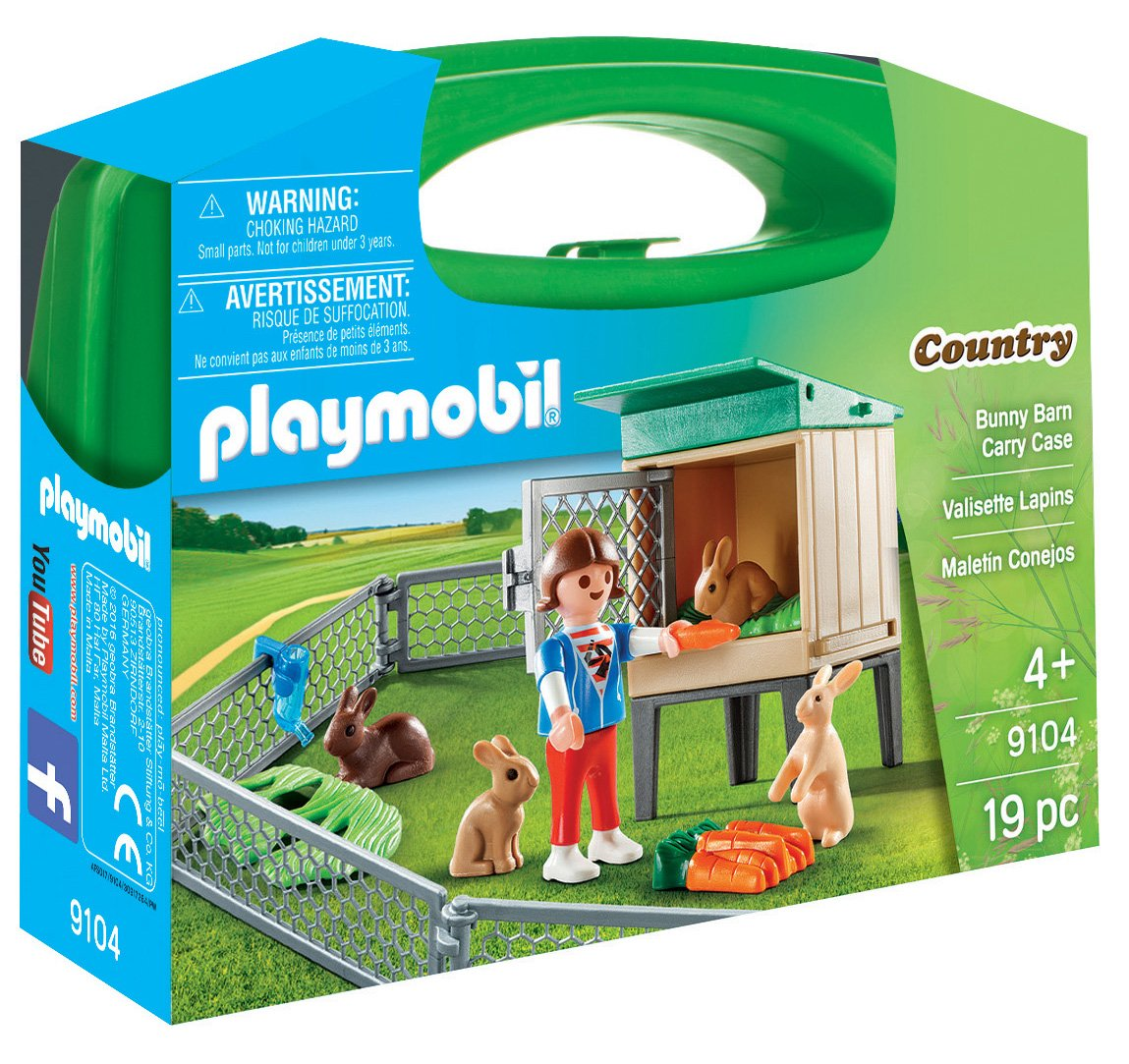 Playmobil-9104 Maletín Conejos, única (9104: Amazon.es: Juguetes y juegos
