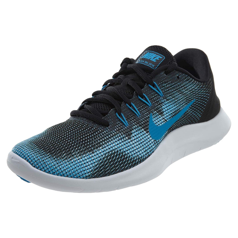 Black Equator bluee White Nike Men's Flex 2018 Rn Running shoes