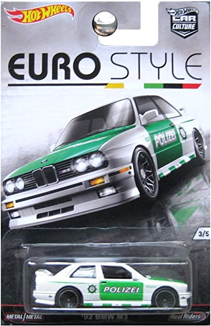amazon com hot wheels car culture euro style 1992 bmw m3 white police polizei toys games hot wheels car culture euro style 1992 bmw m3 white police polizei