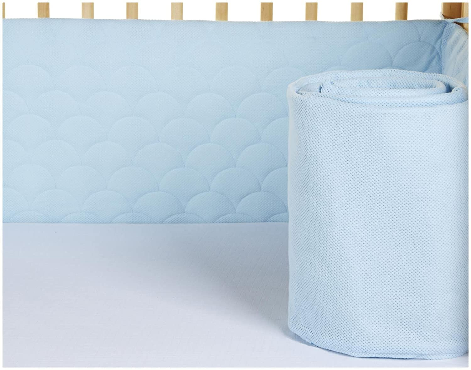 Lifenest Breathable & Padded Mesh Crib Liner - Blue 4335358037