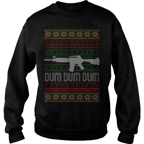 zordan dum dum dum gun owner ugly christmas wine christmas sweater s gun