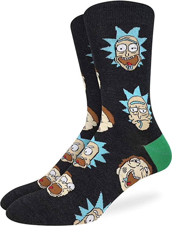 Rick and Morty Character Men's Crew Socks