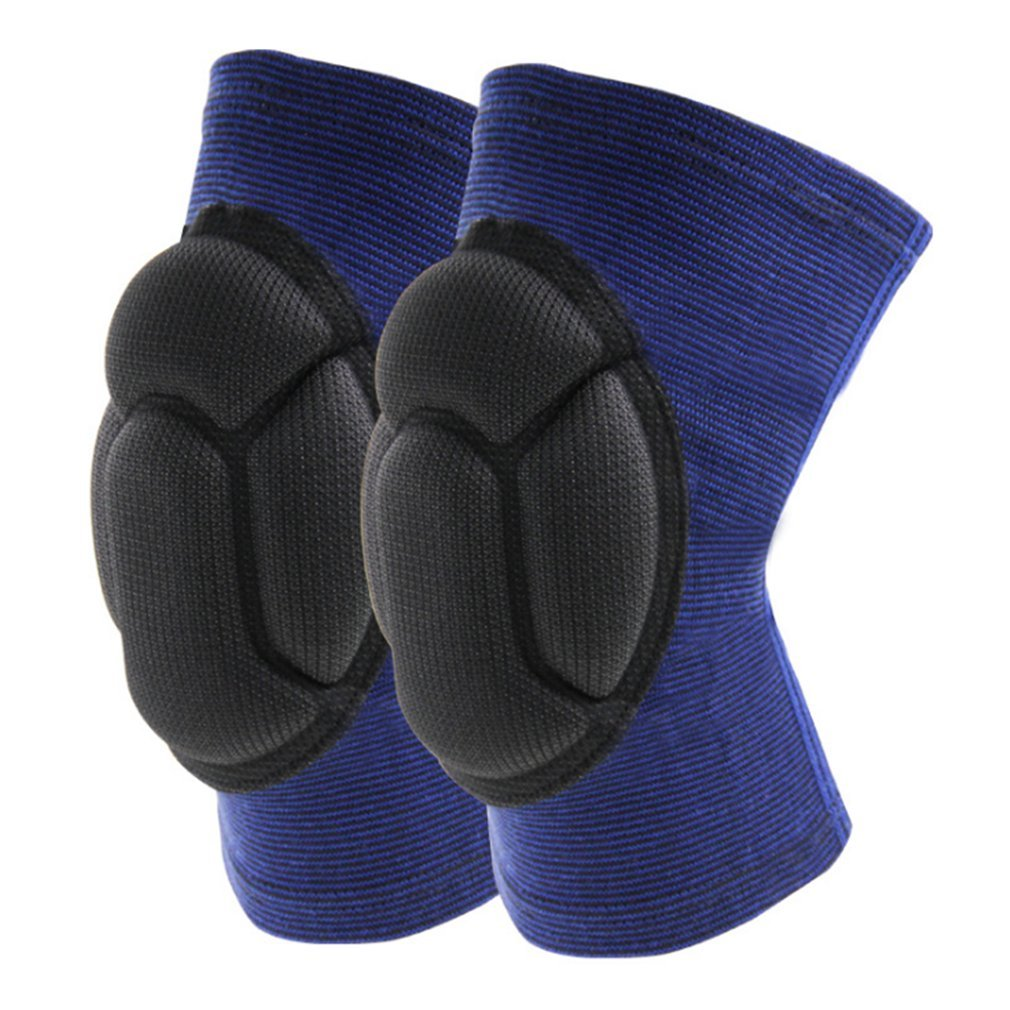 Koode Professional Knee Pads膝厚いスポンジ衝突回避Kneeling付きfor Workクリーニング、ガーデニング、ダンス&スポーツ ブルー