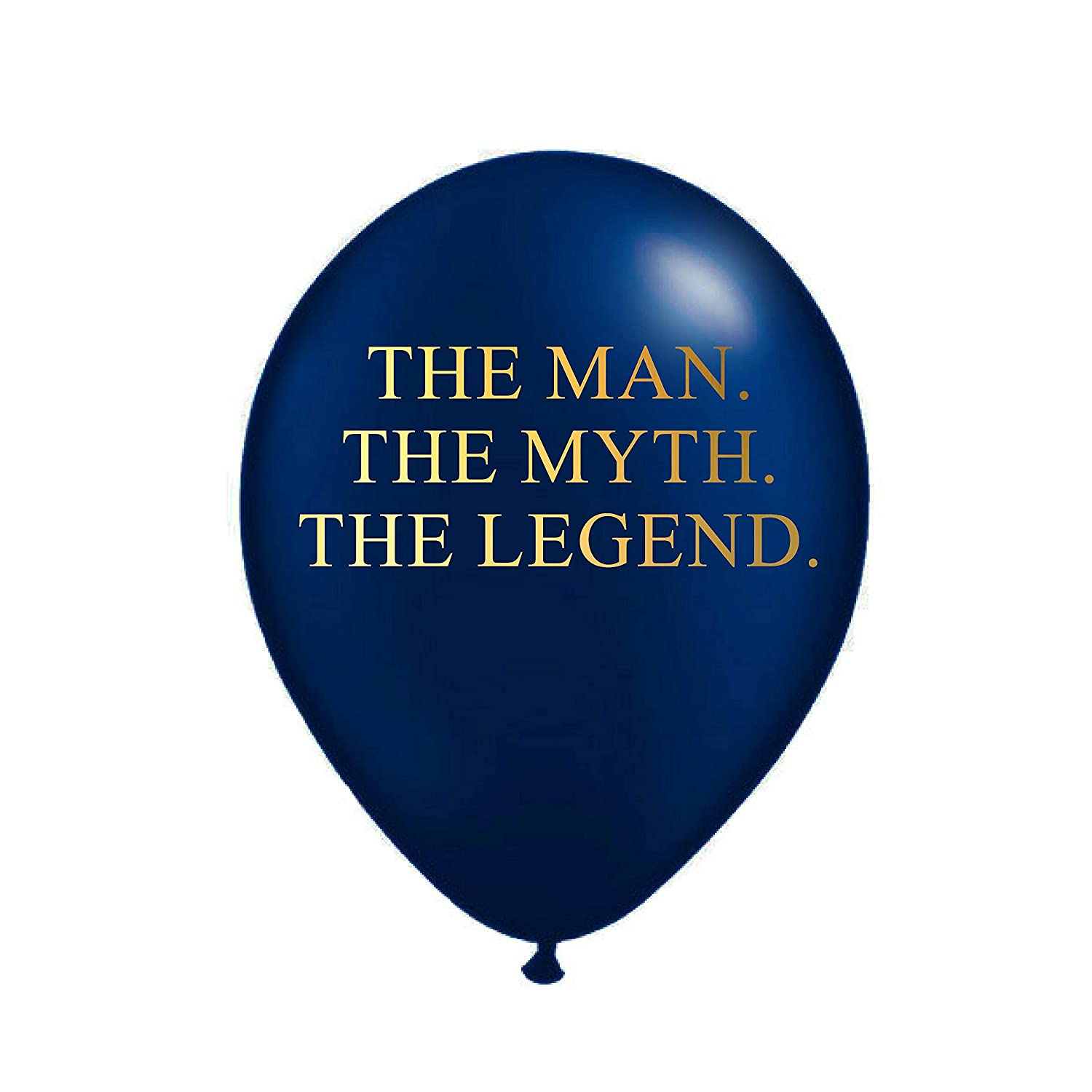 White Rabbits Design The Man Myth Legend Balloons In Navy Blue And Metallic Gold Birthday Party Decorations For Him Funny