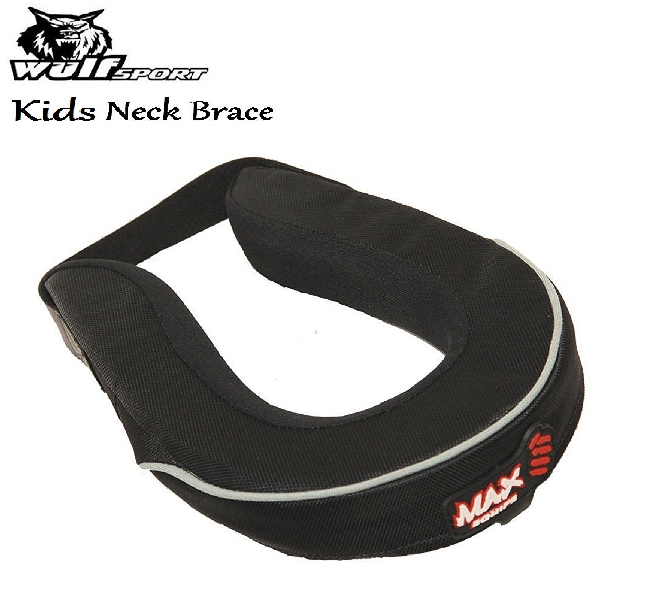 WULFSPORT KIDS MAX NECK BRACE Motorbike Motocross Quad MX Pit Bike Junior Neck Collar Roll WULF KIDS NECK BRACE