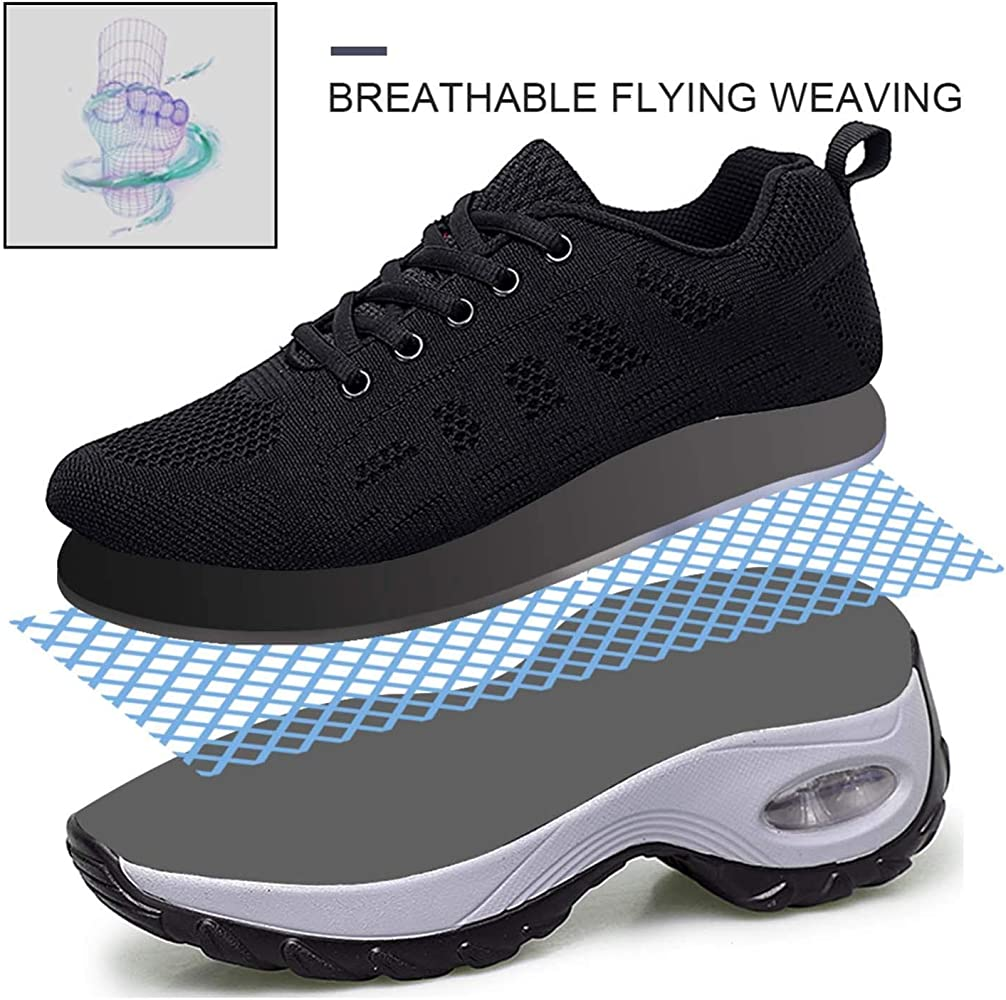 Nis Womens Mesh Sneakers Lightweight Soft Breathable Casual Sports Shoes Hiking