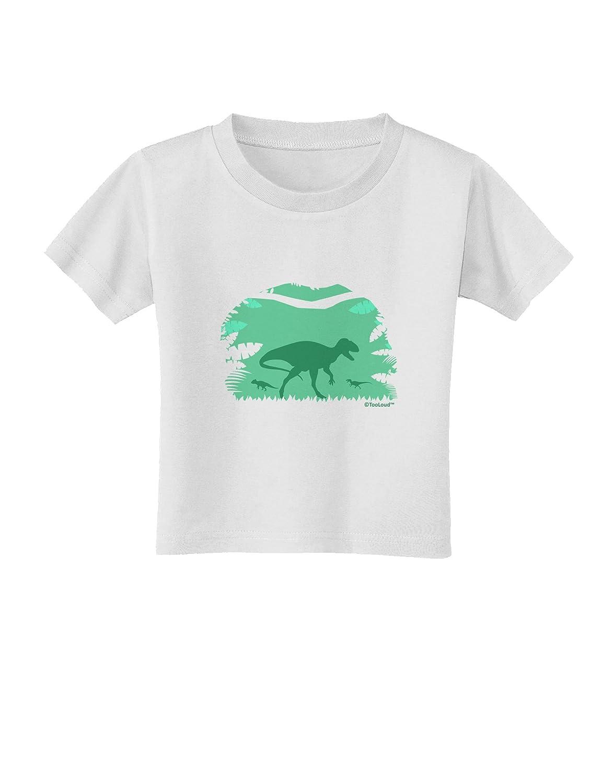 TooLoud Dinosaur Silhouettes Jungle Toddler T-Shirt