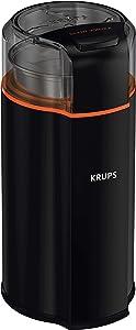 Krups GX332850 Vortex Coffee, Spice Dry Herbs, Silent Grinder, 4.33 X 4.02 X 8.46 In, Silver