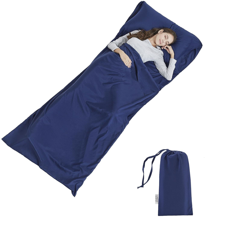 URBAN HABITAT Sábana para Saco de Dormir, para Acampada y Viaje , Forro Térmico De Viajes y Campinghoja Mummy Sleeping Bag Liner: Amazon.es: Deportes y aire ...