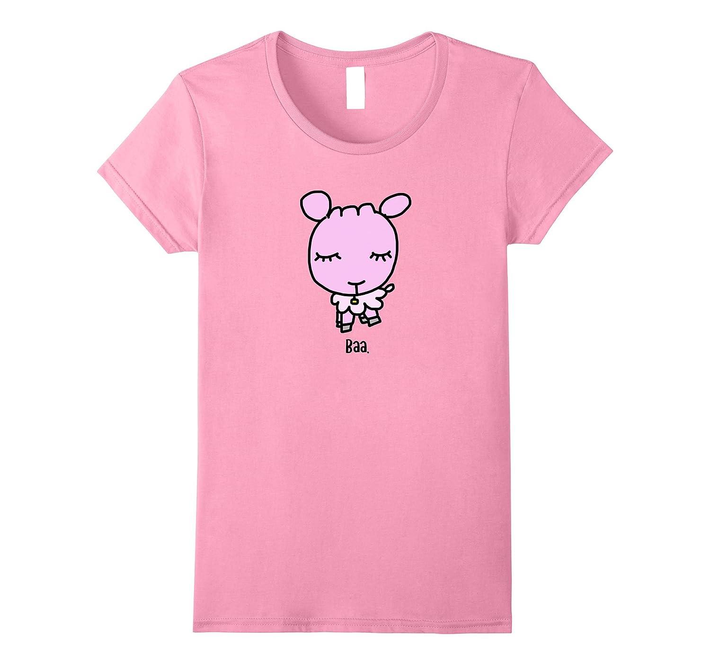 Baa Sheep Pink Kids T-Shirt