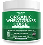 Organic Wheatgrass Juice Powder - Grown in Volcanic Soil of Utah - Raw & BioActive Form, Cold-Pressed Then CO2 Dried…