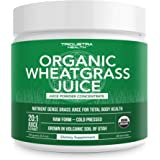 Organic Wheatgrass Juice Powder - Grown in Volcanic Soil of Utah - Raw & BioActive Form, Cold-Pressed Then CO2 Dried - Comple