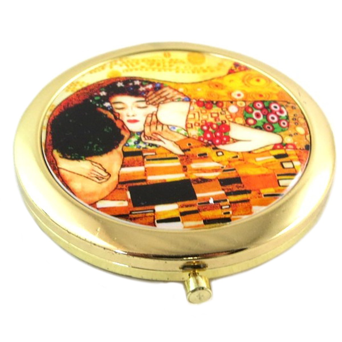 Les Trésors De Lily [Q0179] - Collector mirror 'Gustav Klimt' (the kiss)- 7 cm (2.76''). Les Tresors de Lily 040801FAN062018Q017900