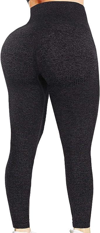 CFR Women High Wasited Leggings Seamless Scrunch Butt Yoga Pants for Gym Running Workout