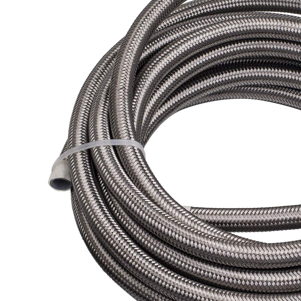 20FT//6M AN8 Stainless Steel PTFE Fuel Line Fitting Hose End Ethanol Kit Swivel