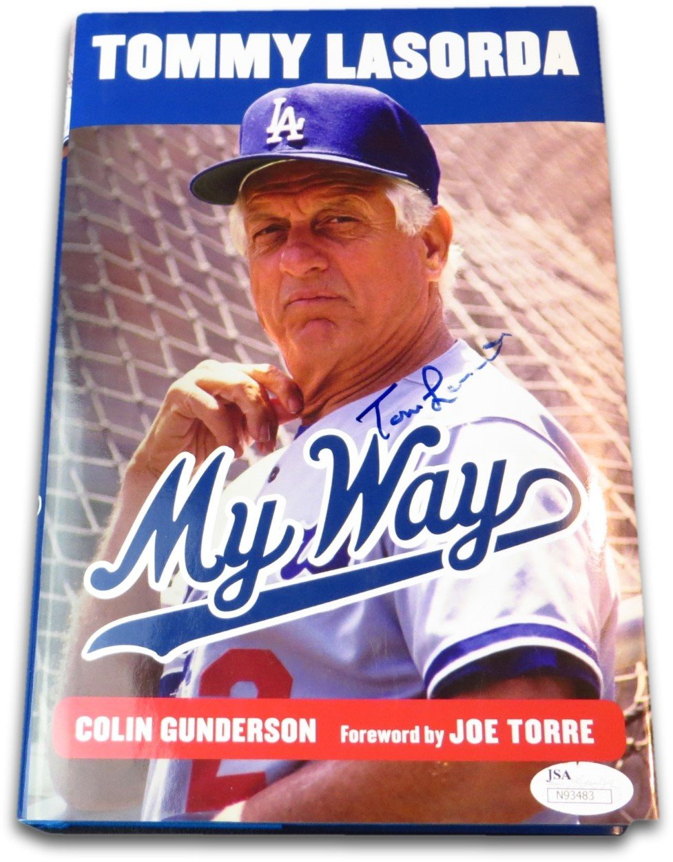 "Tommy Lasorda Signed Autographed Book ""My Way"" Los Angeles Dodgers JSA N93483"