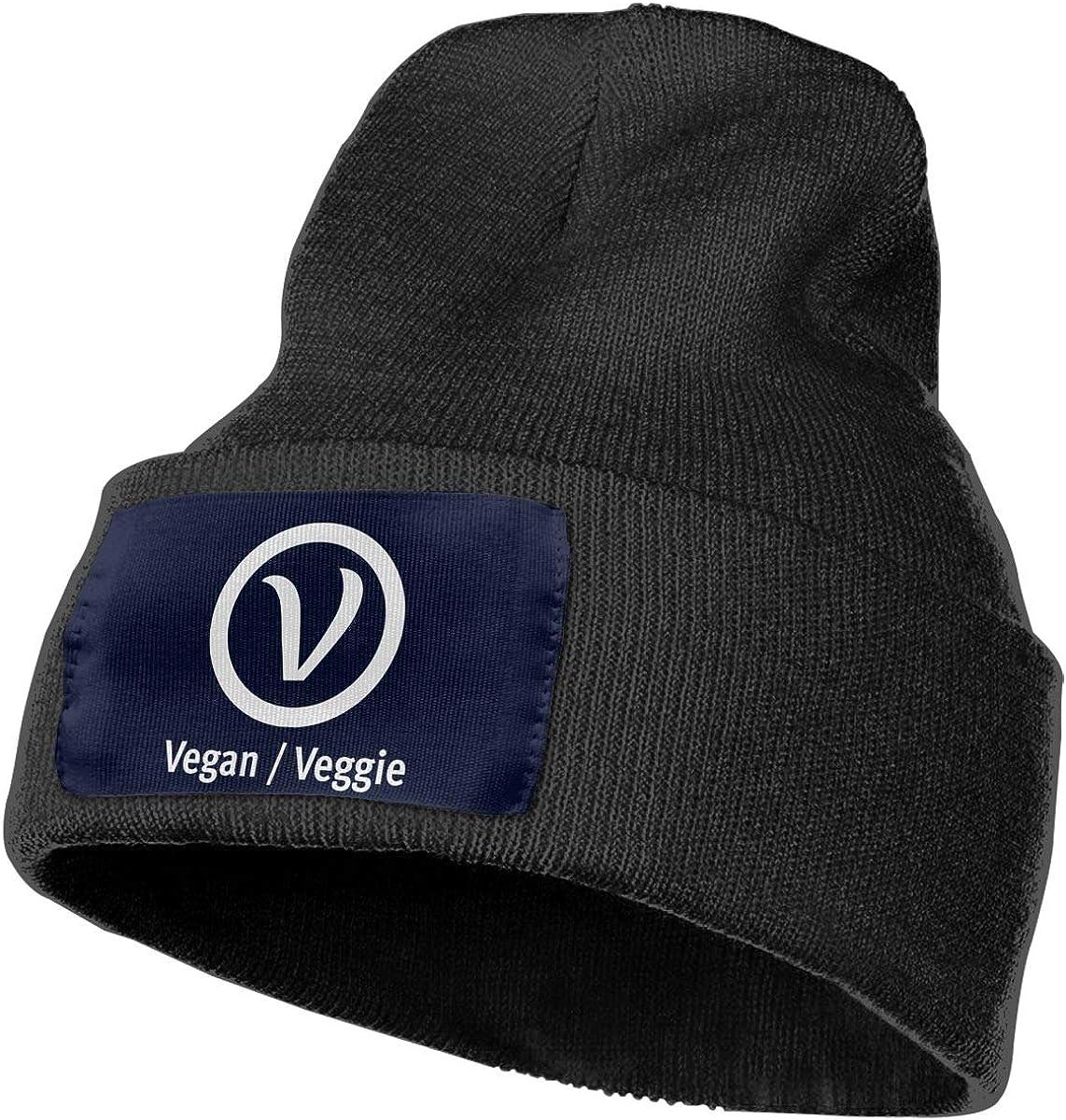 Beanie Vegan Vegetarian Knitted Hat Skull Cap Men Women