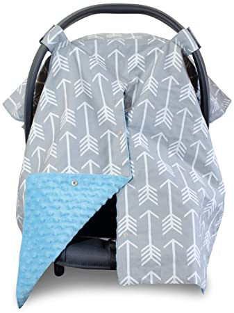 Premium Carseat Canopy Cover and Nursing Cover- Large Arrow Pattern w/ Blue Minky |  sc 1 st  Amazon.com & Amazon.com: Premium Carseat Canopy Cover and Nursing Cover- Large ...