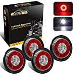 "Partsam 4Pcs 4"" Inch Round LED Trailer Tail"