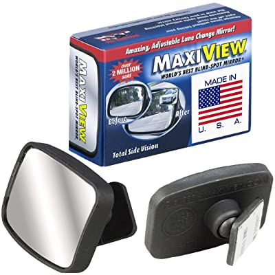 Made in USA, HD Metal Lense 360° Blind Spot Mirror by MaxiView (2): Automotive