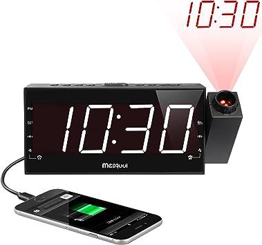 Amazon.com: Radio reloj despertador con visualización ...