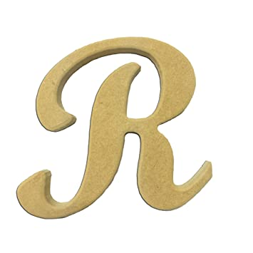 22 wood script cursive capital letter r unfinished diy craft cutout to sell ready to