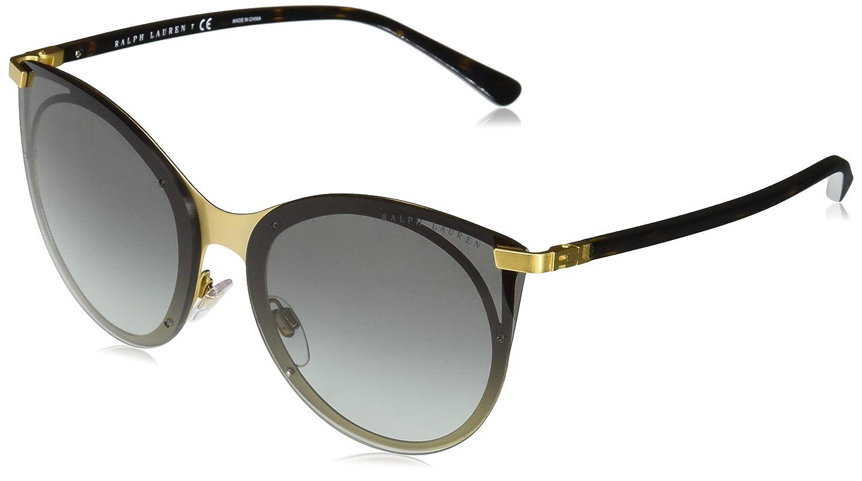 ca31f4d8d7ef Ralph Lauren Sunglasses Women's Metal Woman Non-Polarized Iridium Oval  Sunglasses, Pale Gold, 63 mm: Amazon.in: Clothing & Accessories