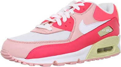 NIKE Wmns Air Max 90 Hot Punch White 2012 Womens Running Shoes 325213-605