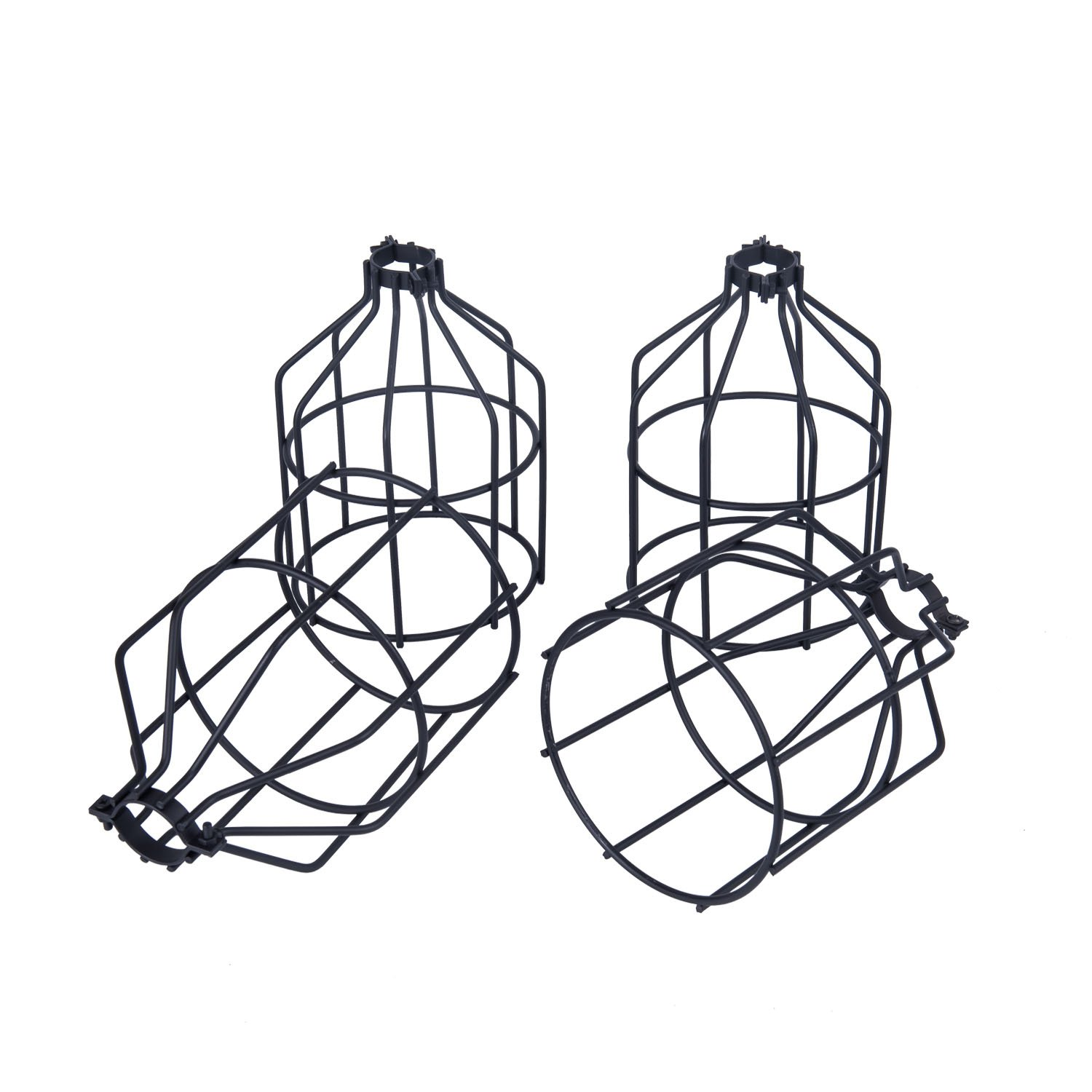 Yaqi Lighting 4 Pack Metal Light Bulb Guard Open Style Black Wiring A Lamp Holder Industrial Wire Cage
