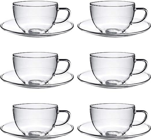 Argon Tableware Juego de Tazas para café o té y platillos ...