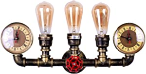LMSOD 3 Lights Water Tube Wall Sconce,Retro Industrial Steampunk Wall Light Fixture in Antique Bronze