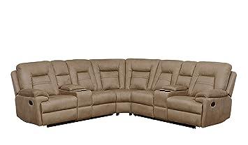 Amazon.com: Betsy muebles grande microfibra seccionales sala ...