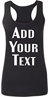 fd5151dd63063c TEEAMORE Women Custom Tank Top Add Your Text Design Your Own Printing in  The USA
