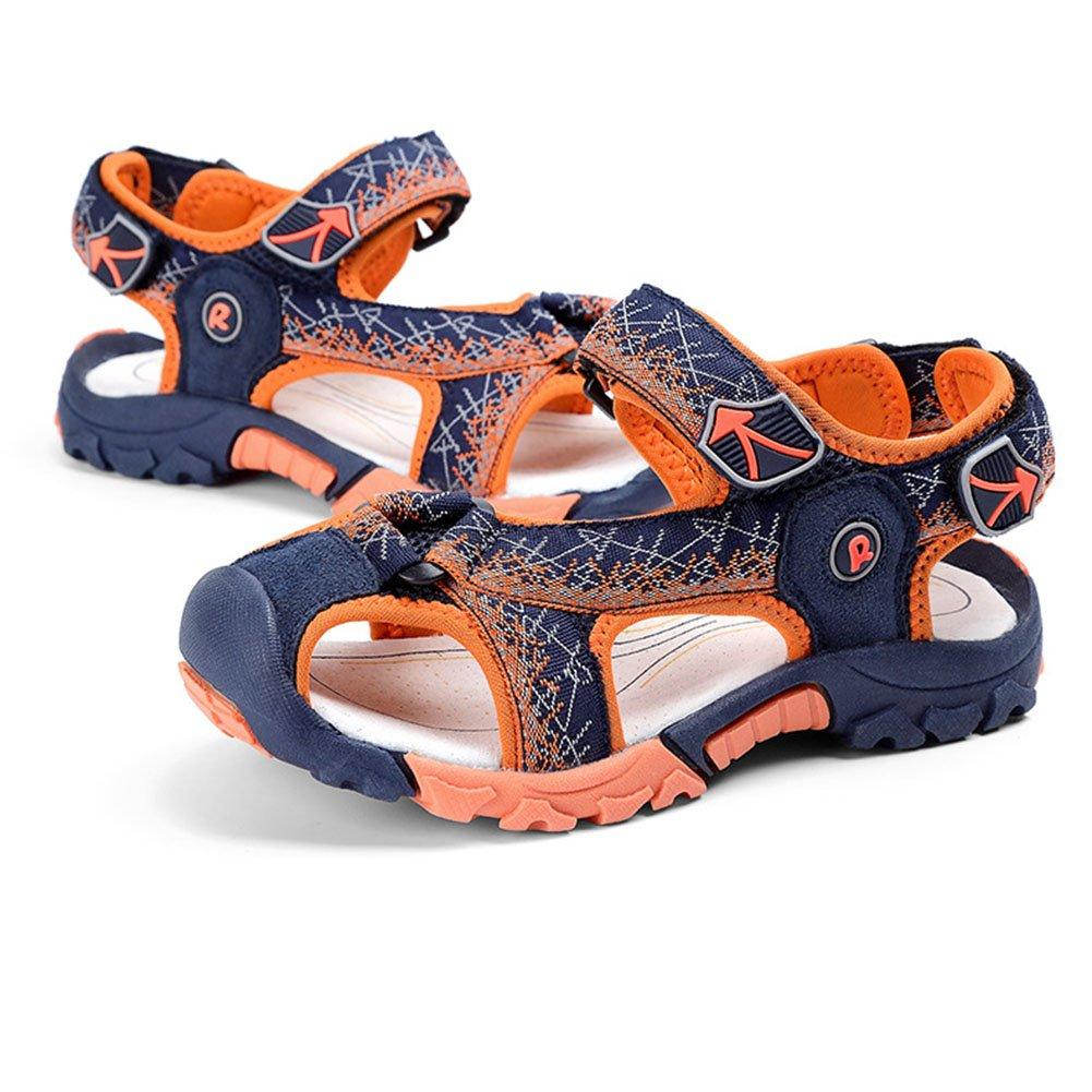 f78382e11be33 Enfant Garçon Fille Été Sandales de Marche Extérieur Plates Souple Semelle  Velcro Chaussures Sport Bout Fermé ...