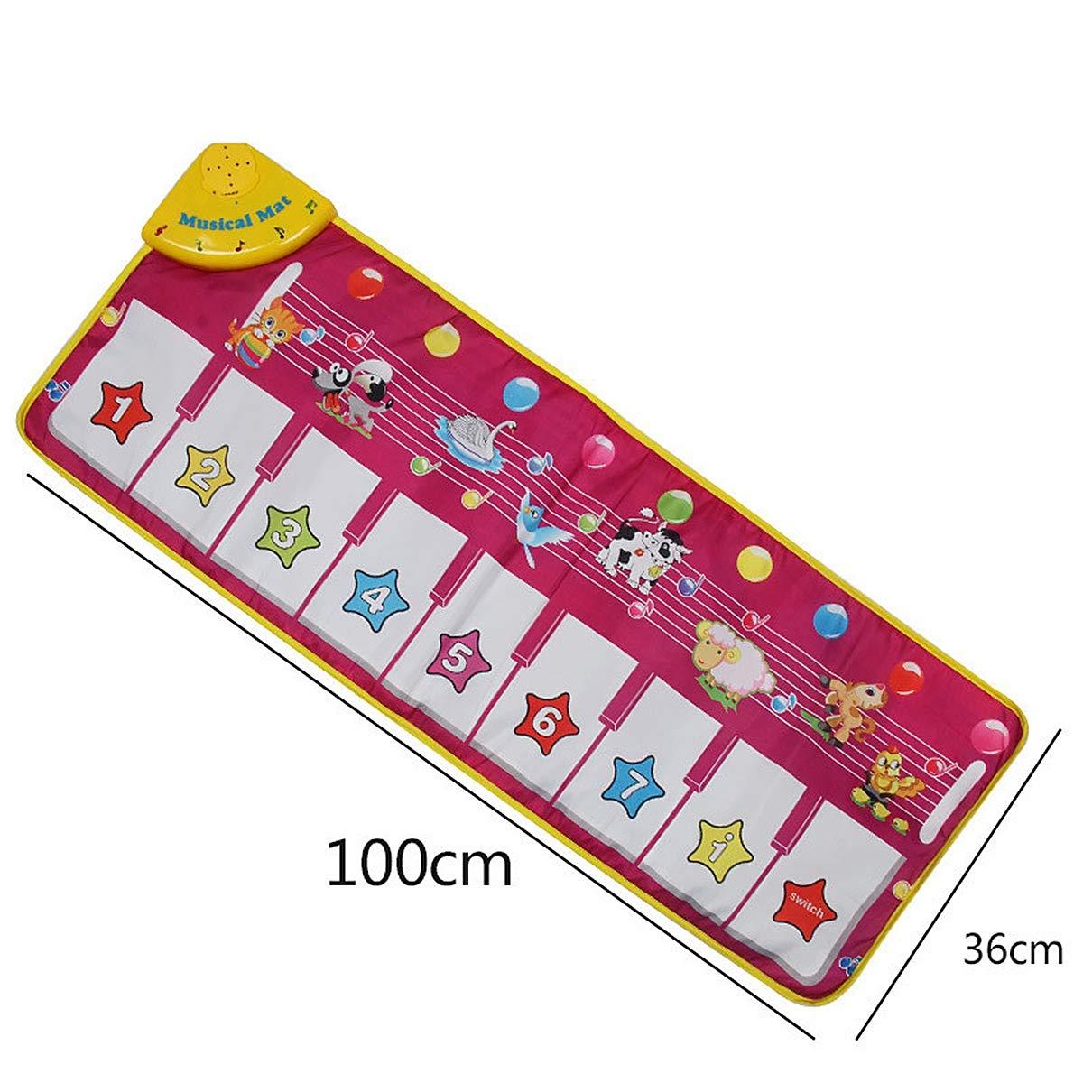 Children's Electronic Piano Mat, Electronic Music Playmat Piano Mat Cartoon Animal Fun Crawling Blanket